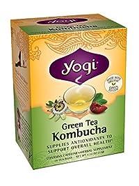 Yogi Kombucha Green Tea, 16 Tea Bags,1.12oz (Pack of 3)