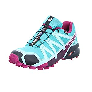 Salomon Damen Speedcross 4 GTX Trailrunning-Schuhe, blau, 5.5 UK