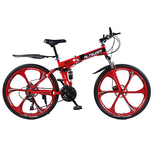 Altruism 26-Zoll Mountainbike Für Männer Und Frauen Mit Vorderen Und Hinteren Scheibenbremse (Rot)