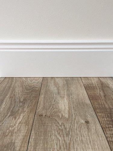 PVC-Bodenbelag Holzoptik in Hellbraun   Vinyl-Fußbodenbelag 600 cm Länge & 2 m Breite   Fußbodenheizung geeignet   PVC Platten strapazierfähig & pflegeleicht   Robuster & rutschfester Boden-Belag