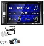 caraudio24 JVC KW-V255DBT Bluetooth USB DAB DVD 2DIN MP3 Autoradio für VW Golf VII (ab 11/2012)
