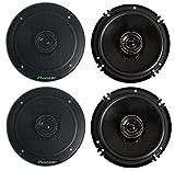 """Pioneer TS-G1645R 2-Way 6-1/2"""" 500 Watt Car Audio Coaxial Speaker (2 Pairs) 6.5"""""""