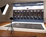 YongFoto 2,2x1,5m Vinyl Foto Hintergrund American Football Rugby Equip Polo Shirt Kleiderschrank Sport Fotografie Hintergrund für Fotoshooting Portraitfotos Party Kinder Hochzeit Fotostudio Requisiten