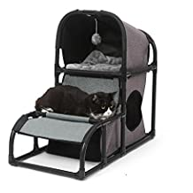 Dbtxwd Gato que rasguña el poste Multifunción Desmontable Combinación Paño de Oxford Nido de gatito Juguete de la actividad Cama de escalada Árbol del gato del animal doméstico 70 * 40 * 80 cm , 2