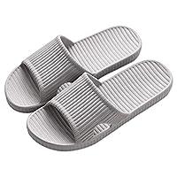 APIKA Bathroom Shower Anti-slip Slipper for men (Grey 40/41)