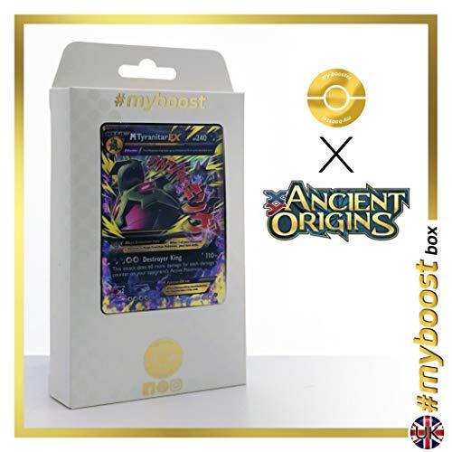 Mega TYRANITAR (Mega TYRANOCIF) EX 43/98 - #myboost X Ancient Origins XY 07 - Coffret de 10 Cartes Pokémon Anglaises