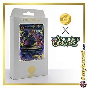 Mega TYRANITAR EX 43/98 - #myboost X Ancient Origins XY 07 - Caja de 10 Cartas Pokémon inglesas
