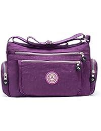 Women's Casual Tote Handbag Water Resistant Nylon Crossbody Bags Shoulder Bags Tote Purse Lady Messenger Bag (...