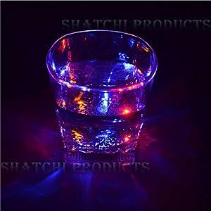 Gifts 4 All Occasions Limited SHATCHI-1291 Shatchi - Copa de vino con luz LED intermitente, diseño de Halloween, multicolor