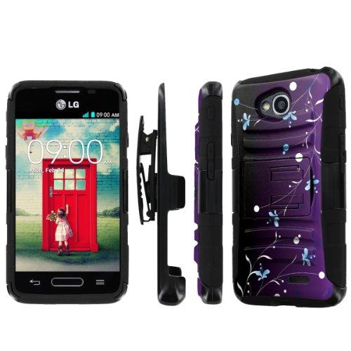 NakedShield LG Optimus L90 NakedShield LG Optimus L70 (Summer Night) Combat Tough Holster Kickstand Armor Phone Case