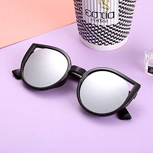 CYCY Sonnenbrille Frauen Flut Koreanische Version der Sonnenbrille rundes Gesicht langes Gesicht Wildbrillen Großhandel T532 weißen Rahmen grauen Film, T534 schwarzen Rahmen weißen Film