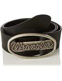Wrangler Men's Ctf Wrangler Buckle Black Belt