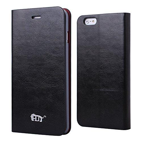 Pdncase iPhone 6 plus Leder Tasche Case Hülle Wallet Style Schutzhülle für iPhone 6 plus Farbe Weiß Schwarz