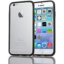 nica Bumper Protectora TPU Silicona Case Cover Parachoque APPLE IPHONE 6 / 6S Smartphone , Color:Negro