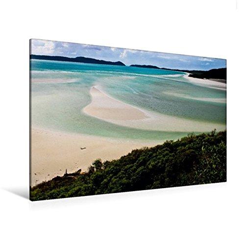 Preisvergleich Produktbild Premium Textil-Leinwand 120 cm x 80 cm quer, Whitehaven Beach Queensland Australien | Wandbild, Bild auf Keilrahmen, Fertigbild auf echter Leinwand, Leinwanddruck (CALVENDO Natur)