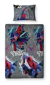 Character World 135 x 200 cm The Amazing Spider-man Movie Single Rotary Duvet Set