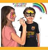 Schminkfarben für Kinder , Gesicht Malerei ,GesichtFarbe Körperfarbe . Verwendet für Körperanstrich, Parteien, Halloween oder Kindverfassung. 'Funtone Color' Enthält Eine Palette von 8 Farben, Glitzer, Pinsel  Schwämme. Lasst die Feier Beginnen