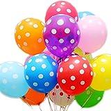 JUNGEN Luftballons Latex ballons in verschiedenen Polka Punkt Party Dekoration Farben mit Punkten Dekoration 100 Stk