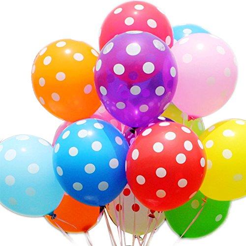 JUNGEN Luftballons Latex ballons in verschiedenen Polka Punkt Party Dekoration Farben mit Punkten Dekoration 100 Stk Rosa Und Grau Party Supplies