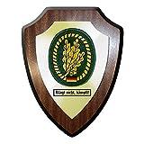 Wappenschild / Wandschild / Wappen - Barettabzeichen Infanterie Jäger klagt nicht, kämpft! Bundeswehr Bund Bw Abzeichen Emblem #11683