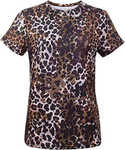 ouflage Leopard Druck Kostüm T-Shirts (XXL, Braun) ()