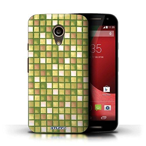 Kobalt® Imprimé Etui / Coque pour Motorola Moto G (2014) / Violet/Blanc conception / Série Carreau Bain Or