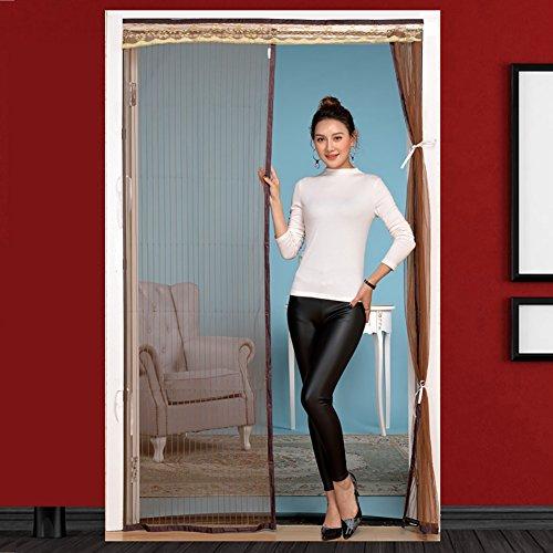 Qiulv aggiornamento schermo porta zanzara patio schermo magia porta mesh completo telaio gancio & loop indietro porta tenda tenere volare aperto automaticamente,210 * 100cm