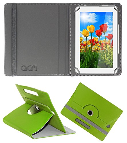 Acm Rotating 360° Leather Flip Case for Tescom Turbo 2g Cover Stand Green  available at amazon for Rs.149