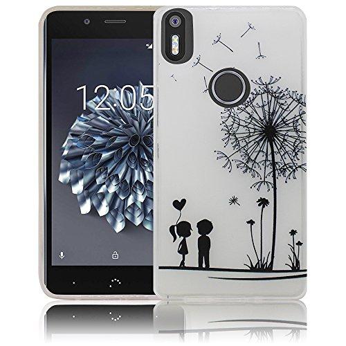 bq Aquaris X5 Plus Passend Pusteblume Handy-Hülle Silikon - staubdicht, stoßfest & leicht - Smartphone-Case