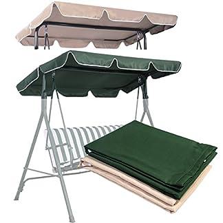 COSTWAY Techo de Repuesto para un Columpio Cubierta de Reemplazo Impermeable Techo Solar para Balancín de Jardín (168 X 115 cm, Beige)