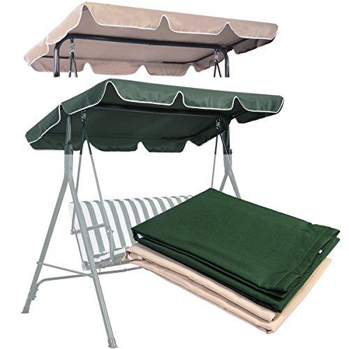 COSTWAY Ersatz Sonnendach für Hollywoodschaukel 2& 3-Sitzer Größen Hängematte Cover Top Garten Outdoor (Ersatz Hängematte)