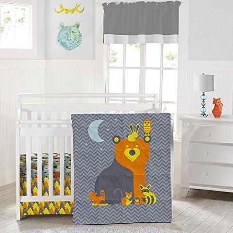 Culla Nursery Set di biancheria da letto Reversibile Creature del Bosco–Adorable 3Piece Set di biancheria per culla in morbida in microfibra resistente (per un materasso misura standard)