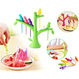 DeoDap's Fancy Bird Fork, Attractive On Table And Ideal Fork For Eating Fruits (Pack Of 1) | Fancy Fork |Tree Shape Holder Rack Party Home Décor | Cutlery Set | Fork Set For Kids | Fork Set With Stand | Forks Set | Fork Stand | Fork Stand | Fork Fo