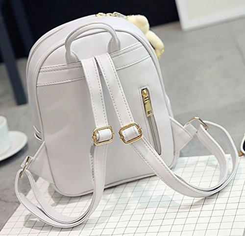 Keshi Pu Cool Damen accessories hohe Qualität Einfache Tasche Schultertasche Freizeitrucksack Tasche Rucksäcke Schwarz