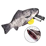 #6: Creative Carp Fish Pen Pencil Case Box Zipper Pencil Case Bag Make up Holder Storage Pouch Stationery School Supplies Funny Gift