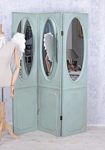 Antik Paravent Spiegel Trennwand Sichtschutz Shabby Chic Spanische Wand Palazzo Exclusiv