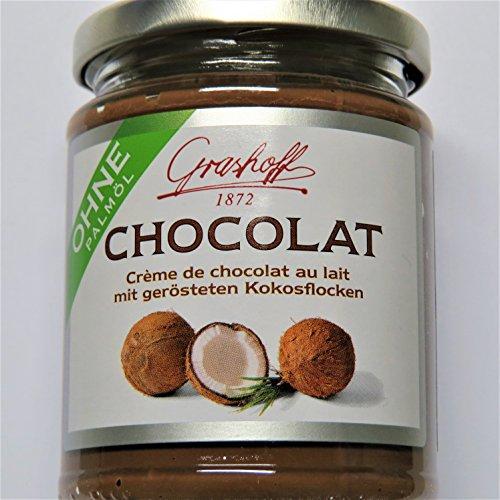 235g Grashoff Schokoladenmilchcreme mit Kokosnussflocken und Rumaroma - AB 30,- EURO VERSANDKOSTENFREI!