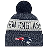 New Era American Football NFL Teamsport Winter Strickmütze Unisex Beanie Mütze, New England Patriots 6849, OSFM
