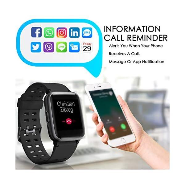 CHEREEKI Reloj Inteligente, Smartwatch Impermeable IP68 Pulsera Actividad 1.3 Pulgada con Monitor de Ritmo cardíaco… 8