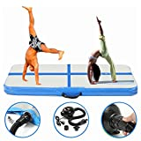 Gymnastik Tumbling Matte, essort Gymnastik Matten, aufblasbare Air Fußmatte mit UK Stecker AIR Pumpe für Gym Training, Home, Picknick, Übung Verwenden, Cheerleading, auf Wasser (304,80 X 91,44 x 7,62 Zoll/10ftx3ftx4in)