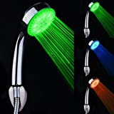 SODIAL(TM) Pomme de douche ¨¤ main LED Chrom¨¦