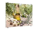 Klebefieber Spritzschutz Mediterraner Oliventraum B x H: 80cm x 60cm