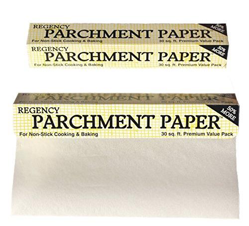 Regency Pergamentpapier Antihaft-Kuchenform und Plätzchenfolie zum Kochen und Backen, 76,2 m Rolle Backrolle 91,4 m (30 Fuß), 2er-Pack 30\' weiß
