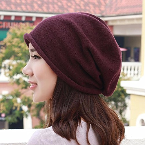 LIUXINDA-MZ Pure cotton hat, knitted hat, shaved head scarf cap and pregnant ear cap for men and women in spring,Brown/A