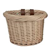 Beatie Fahrradkorb Handgewebter Wicker Woven Korb,Outdoor Auto Korb Environmentally Friendly Korb von Hand Gewebt Wicker Woven Korb