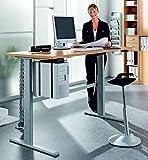 iovivo Schreibtisch höhenverstellbar, Ahorn Nachbildung Basic - 2