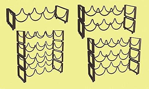Winracer Limitée Hot Sale Porte-vin Cadre Display Shelf Hanging ornements porteurs whisky bouteille pour la cuisine à domicile potable et bar outils , four bottles