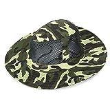 FeiyUan Chapeau de Soleil Large Bord Camouflage en Maille Filet pour randonnée,...