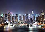 New York Skyline Wall Mural Photo Wallpaper Picture Self Adhesive (342cm(W) x 242cm(H)) 1047
