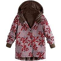 Hanomes Damen Mantel,Damen Winter Warm Mantel Mode Drucken mit Kapuze Jacket Hoodie Casual Lose Vintage Jacket... preisvergleich bei billige-tabletten.eu